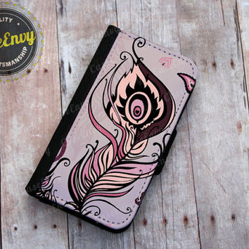 Whimsical Feather iPhone 5/5s Wallet case