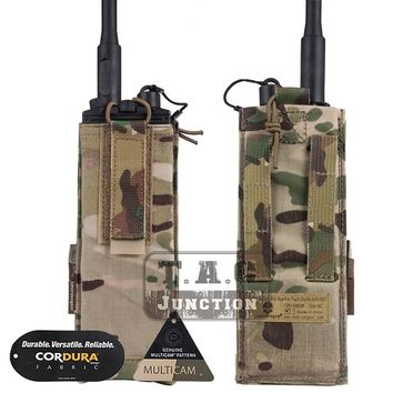 Emerson Tactical MBITR Radio Pouch EmersonGear Walkie Bag Adjustable Talkie Pocket Carrier with Hook & Loop for AVS Vest