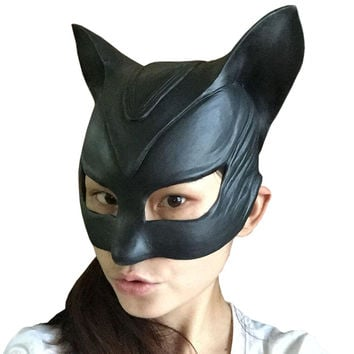 Movie  Catwoman Rubber Latex Party Mask Halloween Lady Cosplay Costume Prop