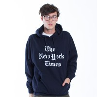 The New York Times Pullover Navy Hoodie by Altru Apparel