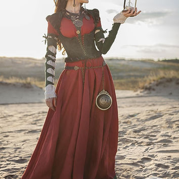 """Steampunk Dress, Corset and Chemise Costume """"The Alchemists daughter""""; steampunk gown; steampunk clothing"""