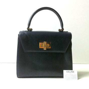 Vintage Authentic Celine Kelly Bag