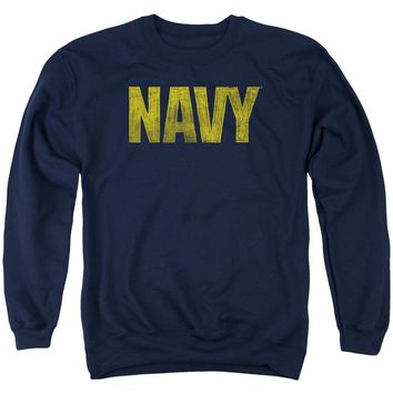 Navy - Logo Adult Crewneck Sweatshirt