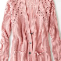 AEO Women's Open Knit Cardigan