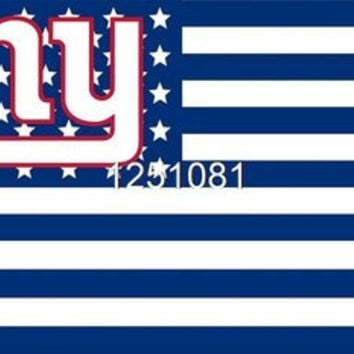 NFL New York Giants Flag 3' x 5' Stars & Stripes Banner