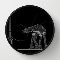 At At Walker stop Wall Clock by Tony Vazquez