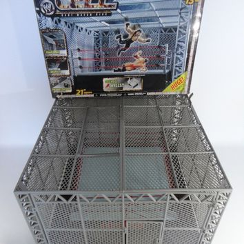 WWE Wrestling Hell In The Cell Cage Match Ring Jakks Pacific Boxed WWF RARE