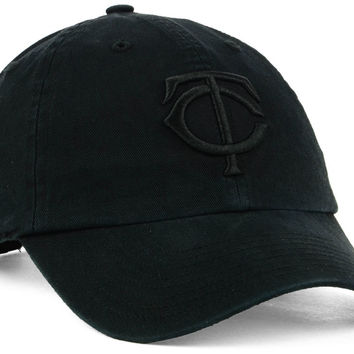 Minnesota Twins '47 MLB Black on Black CLEAN UP Cap