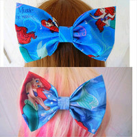 Hair bow / Ariel / The Little Mermaid bow set / hair bow / girls hair bow / princess ariel bow / fabric bow / mermaid bow / disney hair bow