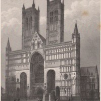 Antique Print Lincoln Cathedral - The Cathedral Church of the Blessed Virgin Mary of Lincoln (A2) by Grandpa's Market