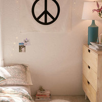 Velvet Flocked Peace Sign Tapestry | Urban Outfitters