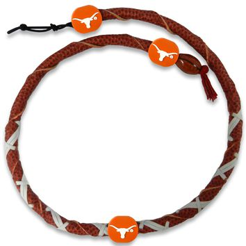 Texas Longhorns Classic Spiral Football Necklace