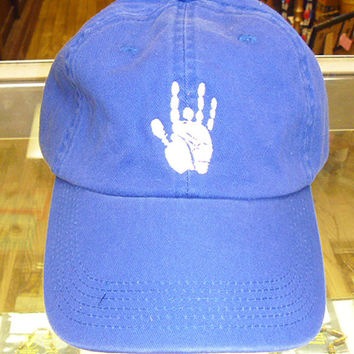 Jerry Garcia Hand Grateful Dead Style Baseball Cap Hat on Royal Blue