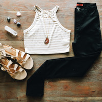 A Striped Crop in Mocha