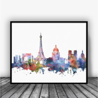 Paris Skyline Art Print Poster