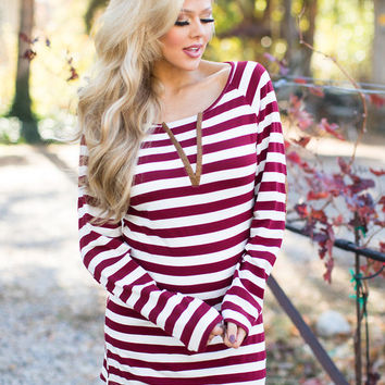 It's All on You Striped Long Sleeve Top