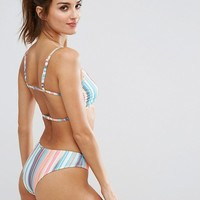 Free Society Stripe Bralette Bikini Top at asos.com