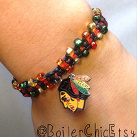 Chicago Blackhawks Macramé Bracelet