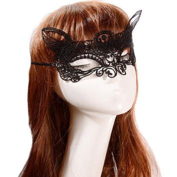 ESBONHS 20Pcs Masquerade Sexy Masks Halloween Cutout Eye Mask Anonymous Cosplay Party Black Lace Masks Masque Sexy Female Masque