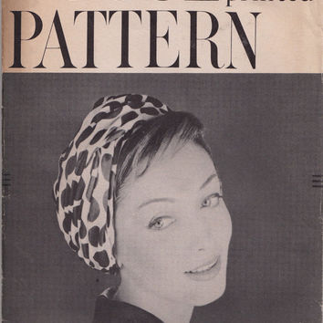 1950s Vogue Pattern 9439 Turban Hat Bias Drapery Around Crown Size 22 UNCUT Sally Victor Design Vintage Sewing Pattern