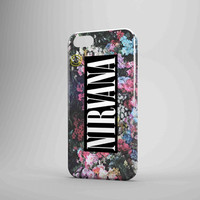 Nirvana Logo Floral Flower iPhone Case Galaxy Case 3D Case