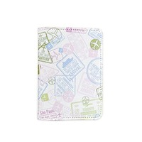 Visa Stamps Travel The World Leather Passport Cover - Vintage Passport Wallet - Travel Accessory Gift - Travel Wallet for Women and Men _Mishkaa