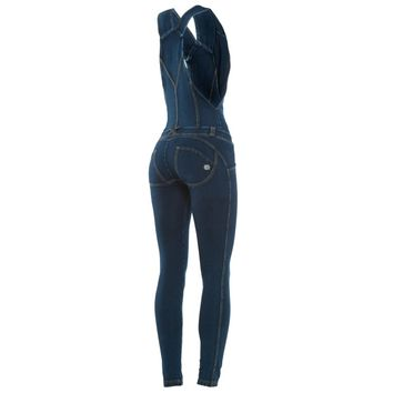 WR.UP® SHAPING EFFECT - Fit: Dungaree - Denim effect dark wash | Freddy