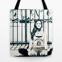 Baddha Konasana Yoga Pose Photo Tote Bag, Urban Yoga Photograph, Market, Shopping, Beach or Gift Bag