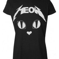 DARKSIDE CLOTHING METAL MEOW T-SHIRT