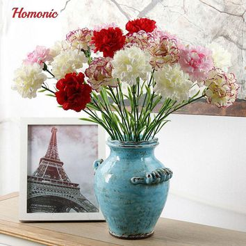 5PC DIY Fresh Artificial perennial carnations Silk Flower american semente carnations Fake plant for Mother's Day Floral Home