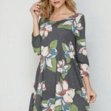 Carson Line Pocket Dress by Honeyme