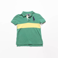 Vintage 90s Boy's POLO Shirt/ 1990s Kid's Ralph Lauren Rugby Shirt 6