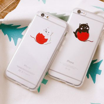 The New Creative Cute Cat Lovers Iphone Protective Case + Nice Gift Box
