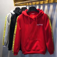 Supreme x OFF White Fashion Hoodie Top Sweater Pullover