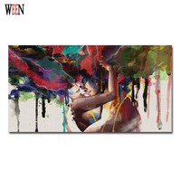Hugging Couples Canvas Art Love Pictures Of Abstract Paintings Cuadros Decoracion Decorative Pictures Poster Retro Christmas