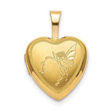 925 Gold Plated Silver Sterling Silver Gold-plated 12mm Fairy Heart Locket