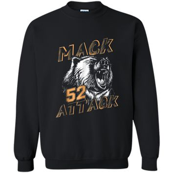 Mack Attack Bear Beast Chicago Welcome New Player 52 Printed Crewneck Pullover Sweatshirt