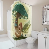 Woodland Fairy Print Shower Curtain