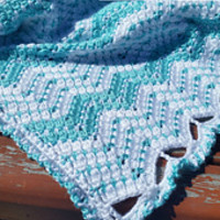 Strips of Chevron Blanket pattern by Jennifer Hatch
