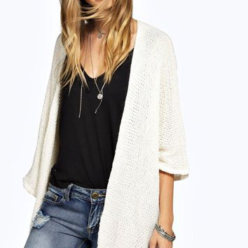 Lucy Loose Knit Batwing Cardigan | Boohoo