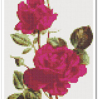 Rose Cross Stitch Pattern, Rose Home decor x stitch pattern, Cross stitch Embroidery, Embroidery pattern