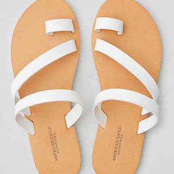 AEO Toe Ring Slide Sandal , White