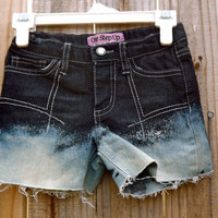 Kids Dip-Dyed Bleached Shorts