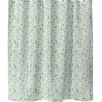 AUTUMN SPRING GREEN Shower Curtain By Tiffany Wong