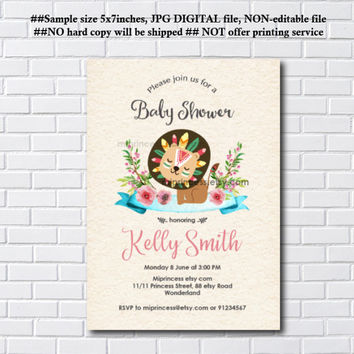 Best woodland baby shower invites products on wanelo lion woodland baby shower invitation lion baby shower boy baby shower invite baby filmwisefo