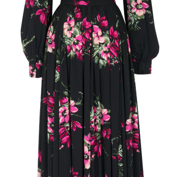 Trashy Diva Bianca Long Dress | Vintage Inspired Dress | Magenta Floral