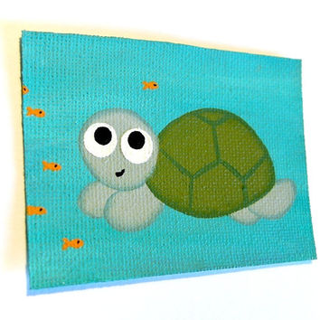 Happy Turtle ACEO