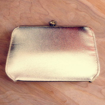 Vintage Metallic Gold Evening Bag / Clutch