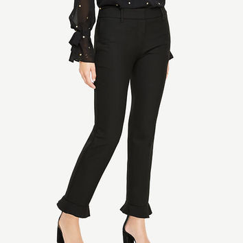The Ankle Pant with Ruffle Cuff | Ann Taylor
