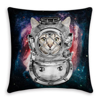 3D Print Pattern Linen Cats Cushion Cover [4919494852]